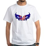 Heart Flag White T-Shirt
