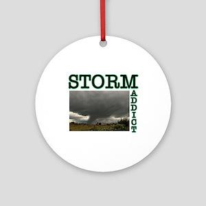 Storm Addict Ornament (Round)