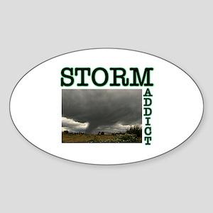 Storm Addict Oval Sticker