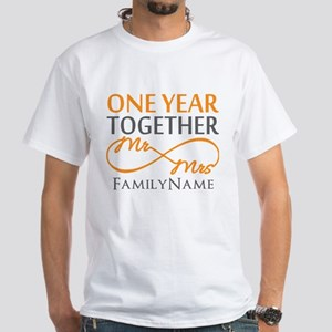Gift For 1st Wedding Anniversary White T-Shirt