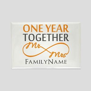 Gift For 1st Wedding Anniversary Rectangle Magnet