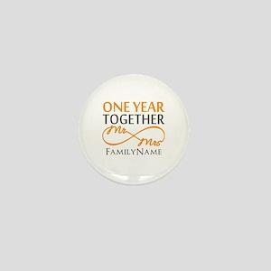 Gift For 1st Wedding Anniversary Mini Button