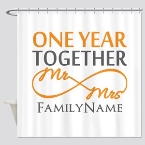 Gift For 1st Wedding Anniversary Shower Curtain