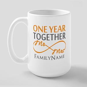 Gift For 1st Wedding Anniversary Large Mug