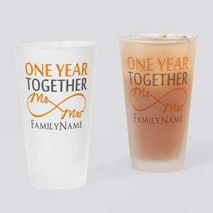 Gift For 1st Wedding Anniversary Drinking Glass