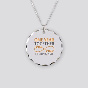 Gift For 1st Wedding Anniver Necklace Circle Charm