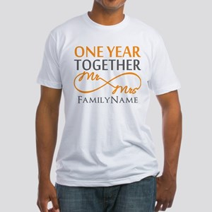 Gift For 1st Wedding Anniversary Fitted T-Shirt