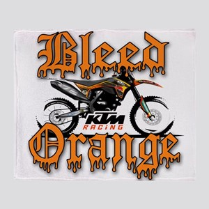 BleedOrange Throw Blanket