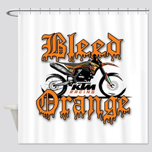 BleedOrange Shower Curtain