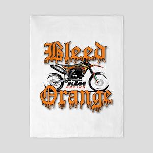 BleedOrange Twin Duvet