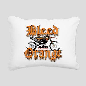 BleedOrange Rectangular Canvas Pillow