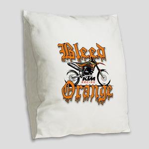 BleedOrange Burlap Throw Pillow