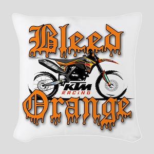 BleedOrange Woven Throw Pillow