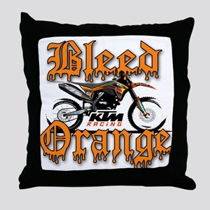 BleedOrange Throw Pillow