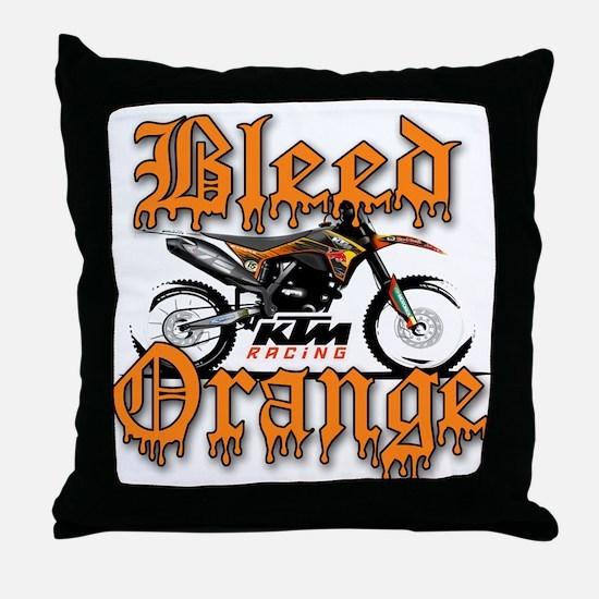 BleedOrange Throw Pillow