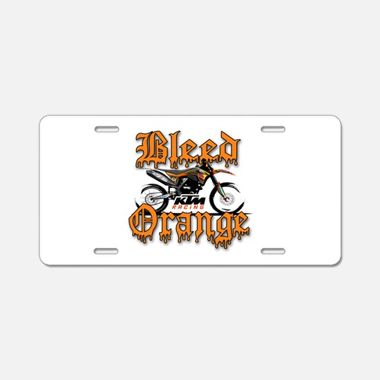 BleedOrange Aluminum License Plate