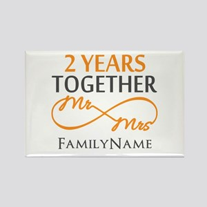 Gift For 2nd Wedding Anniversary Rectangle Magnet