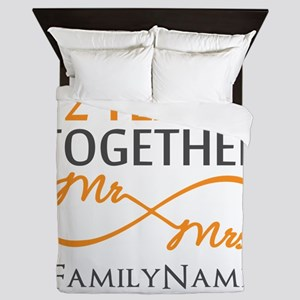 Gift For 2nd Wedding Anniversary Queen Duvet
