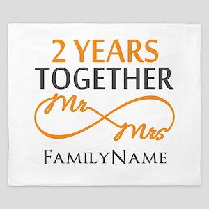 Gift For 2nd Wedding Anniversary King Duvet