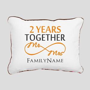 Gift For 2nd Wedding Ann Rectangular Canvas Pillow