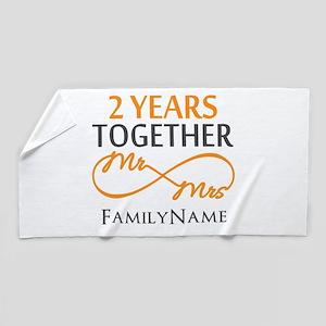 Gift For 2nd Wedding Anniversary Beach Towel
