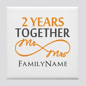 Gift For 2nd Wedding Anniversary Tile Coaster