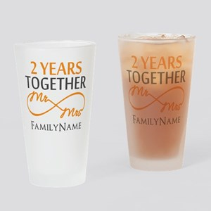 Gift For 2nd Wedding Anniversary Drinking Glass