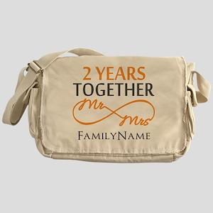 Gift For 2nd Wedding Anniversary Messenger Bag