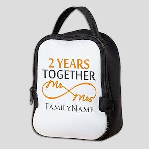Gift For 2nd Wedding Anniversar Neoprene Lunch Bag