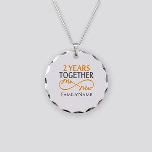 Gift For 2nd Wedding Anniver Necklace Circle Charm