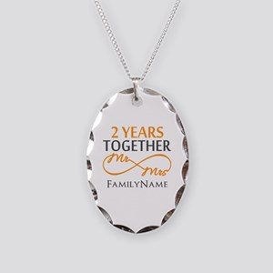 Gift For 2nd Wedding Anniversa Necklace Oval Charm