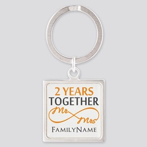 Gift For 2nd Wedding Anniversary Square Keychain