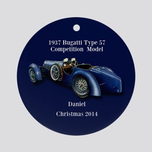 1937 Bugatti Personalized Ornament (round)