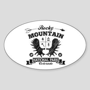 Rocky Mountain Camper Sticker (Oval)