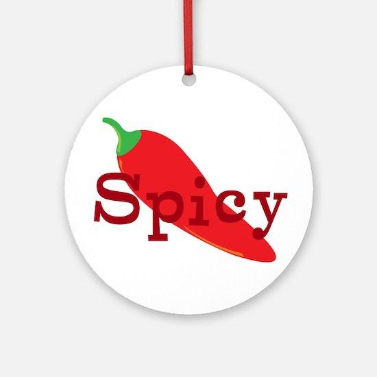 Spicy Chili Pepper Ornament (Round)
