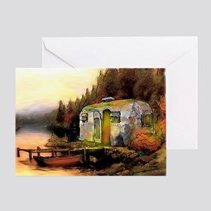 Airstream camping Greeting Card