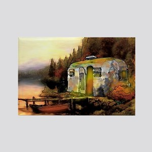 Airstream camping Rectangle Magnet