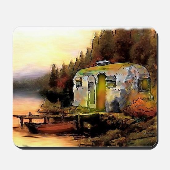 Airstream camping Mousepad
