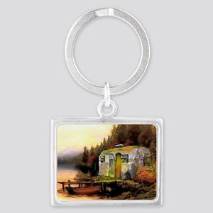Airstream camping Landscape Keychain