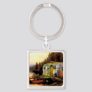 Airstream camping Square Keychain