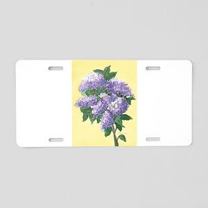 LILAC SPRIG 4 7 14 Aluminum License Plate