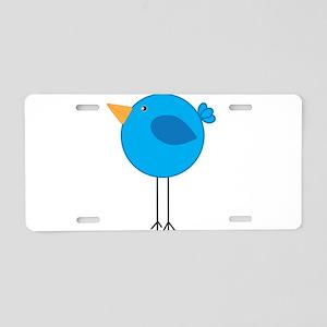 Blue Bird Cartoon Aluminum License Plate