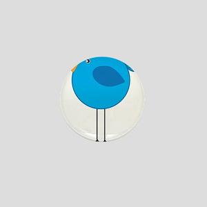 Blue Bird Cartoon Mini Button