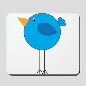Blue Bird Cartoon Mousepad