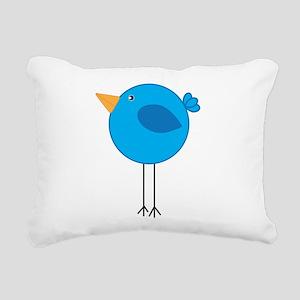 Blue Bird Cartoon Rectangular Canvas Pillow