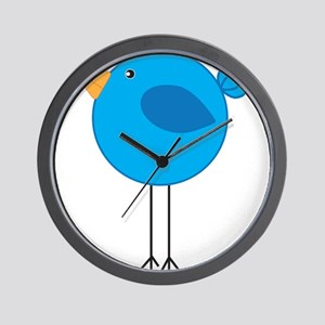 Blue Bird Cartoon Wall Clock