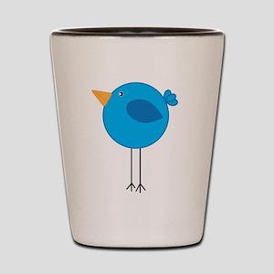Blue Bird Cartoon Shot Glass