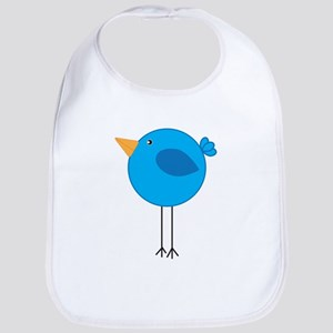 Blue Bird Cartoon Bib