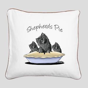 Shepherds Pie Square Canvas Pillow