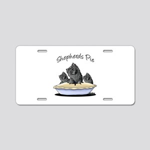 Shepherds Pie Aluminum License Plate